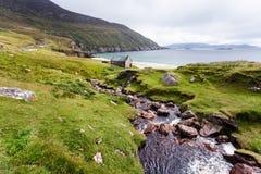 Achill Irland, Ansicht an Keem-Strand. Stockbild