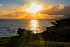 Achill Sonnenuntergang Lizenzfreie Stockbilder