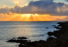 Achill Sonnenuntergang Lizenzfreie Stockfotografie