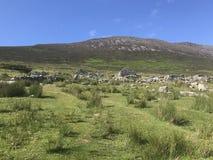 Achill wyspy opustoszała wioska zdjęcia stock