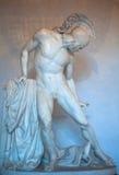 Achille ferito statua fotografia stock