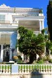 Achilleion宫殿在科孚岛海岛,希腊,建立由奥地利巴伐利亚,亦称Sisi Elisabeth的女皇  免版税库存图片