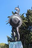 Huge Statue of Achilles in Garden the Achilleion Palace on the island of Corfu Greece built by Empress Elizabeth of Austria Sissi Stock Photos