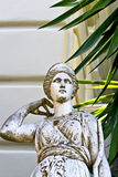 Achilleion palace, Corfu, Greece. Greek classic era statue in front of a building in Greece Royalty Free Stock Images