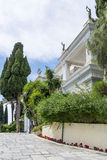 Achilleions-Palast in Gastouri auf Korfu-Insel, Griechenland Lizenzfreie Stockfotos