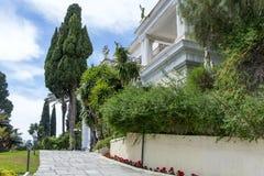 Achilleions-Palast in Gastouri auf Korfu-Insel, Griechenland Lizenzfreies Stockbild