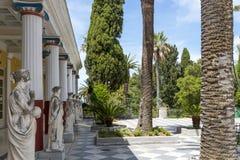 Achilleions-Palast in Gastouri auf Korfu-Insel, Griechenland Stockfotografie