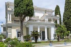 Achilleions-Palast in Gastouri auf Korfu-Insel, Griechenland Stockfoto