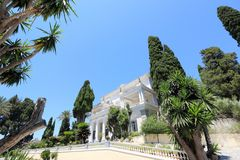 Achilleions-Palast Gastouri eine Korfu-Insel, Griechenland Stockbild