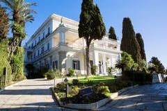 Achilleions-Palast in Korfu-Insel, Griechenland, errichtet von der Kaiserin von Österreich Elisabeth von Bayern, von alias Sisi Lizenzfreie Stockfotos