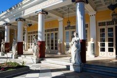 Achilleions-Palast in Korfu-Insel, Griechenland, errichtet von der Kaiserin von Österreich Elisabeth von Bayern, von alias Sisi Lizenzfreies Stockfoto