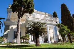 Achilleions-Palast in Korfu-Insel, Griechenland, errichtet von der Kaiserin von Österreich Elisabeth von Bayern, von alias Sisi Lizenzfreies Stockbild