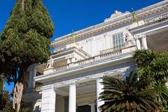 Achilleions-Palast in Korfu-Insel, Griechenland, errichtet von der Kaiserin von Österreich Elisabeth von Bayern, von alias Sisi Lizenzfreie Stockfotografie
