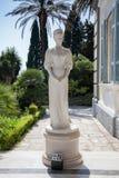 Achilleions-Palast - Statue der Kaiserin Sisi Korfu-Insel, GR Stockbild