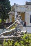 Achilleions-Statue in Korfu, Griechenland Lizenzfreie Stockfotos