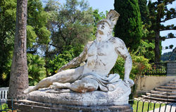 Achilles. Statue of Achilles in Achillion Palace Corfu Stock Image