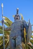 achilles corfu greece staty royaltyfri fotografi