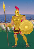 Achilles. Near the Greek camp on the Trojan shore Royalty Free Stock Image