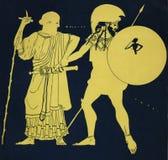 Achilles and Odisseus royalty free stock photos