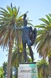 Achilles statue Achilleion Corfu. Achilles statue in the park Achilleion Corfu Royalty Free Stock Images