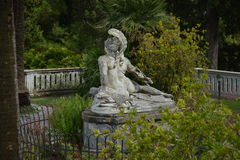 Achilles. Statue of Dying Achilles in the garden of Sissy Palace in Corfu, Greece Stock Images