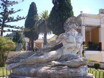 Achilleus-Statue auf Krf Stockbild