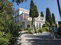 Achillieon-Palast auf der Insel von Korfu Griechenland errichtet von der Kaiserin Elizabeth von Österreich Sissi Lizenzfreie Stockfotos