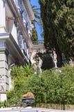 Achillieon-Palast auf der Insel von Korfu Griechenland errichtet von der Kaiserin Elizabeth von Österreich Sissi Lizenzfreies Stockbild