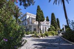 Achillieon-Palast auf der Insel von Korfu Griechenland errichtet von der Kaiserin Elizabeth von Österreich Sissi Stockfotos
