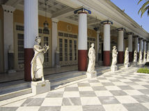 Achillion palace statues Royalty Free Stock Images