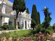Achillion slott, Korfu, Grekland Arkivbilder
