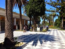 Achillionpaleis, Korfu, Griekenland Royalty-vrije Stock Fotografie