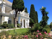 Achillionpaleis, Korfu, Griekenland Stock Afbeeldingen