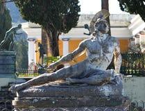 Achillions-Palast auf der Insel von Korfu Stockfoto
