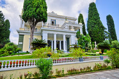 Achillions-Palast auf Korfu-Insel, Griechenland Stockbild