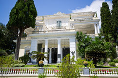 Achillions-Palast auf Korfu-Insel, Griechenland Lizenzfreies Stockbild