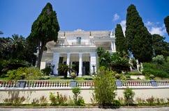 Achillions-Palast auf Korfu-Insel, Griechenland Lizenzfreie Stockbilder