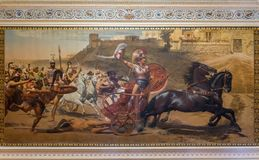 Achillions-Palast in Korfu Griechenland Lizenzfreies Stockbild