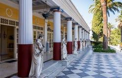 Achillions-Palast in Korfu Griechenland Stockfoto