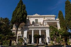 Achillions-Palast in Korfu Griechenland Stockfotografie