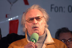 Achim Wolff. FEBRUARY 20, 2006 - BERLIN: Achim Wolff at a protest demonstration against the closure of a theater in Berlin stock photography