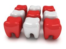 Aching and healthy teeth Royalty Free Stock Image