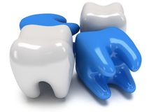 Aching and healthy teeth Stock Photos