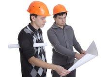 Achitects regardant sur des modèles Photographie stock libre de droits