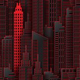 Achitectural building in panoramic view. Modern city skyline building industrial paper art landscape skyscraper offices. Independent thinker and individual Royalty Free Stock Photo