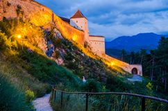 Achitectural Detail Of Rasnov Fortress Royalty Free Stock Photography