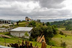 Achitecture положения Чьяпаса, Мексика стоковая фотография rf
