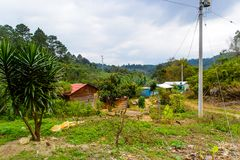 Achitecture of the Chiapas state, Mexico. CHIAPAS, MEXICO - NOV 2, 2016: Beautiful nature and architecture of One of the maya villages in Chiapas state of Mexico royalty free stock photos