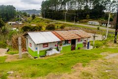 Achitecture of the Chiapas state, Mexico. CHIAPAS, MEXICO - NOV 2, 2016: Beautiful view of the One of the maya villages in Chiapas state of Mexico. Here live the royalty free stock photo