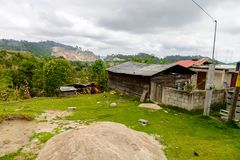 Achitecture of the Chiapas state, Mexico. CHIAPAS, MEXICO - NOV 2, 2016: Little house in One of the maya villages in Chiapas state of Mexico. Here live the real stock images